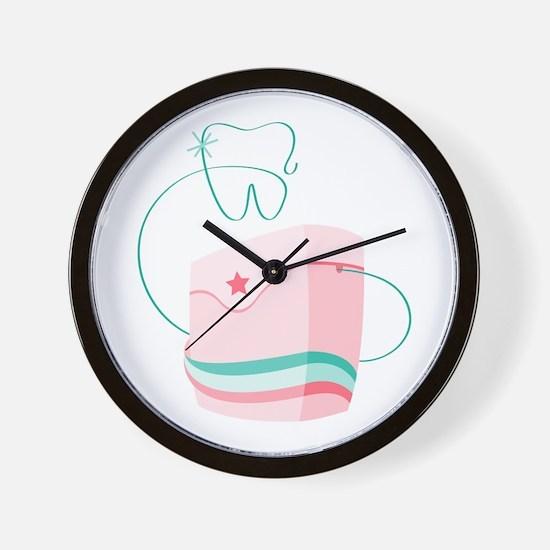 Dental Floss Wall Clock