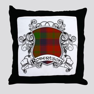 Robertson Tartan Shield Throw Pillow