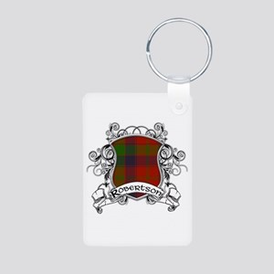 Robertson Tartan Shield Aluminum Photo Keychain