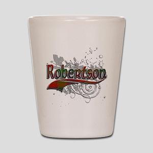 Robertson Tartan Grunge Shot Glass