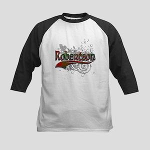 Robertson Tartan Grunge Kids Baseball Jersey