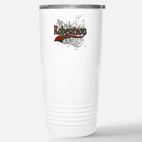 Robertson Tartan Grunge Stainless Steel Travel Mug