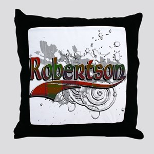 Robertson Tartan Grunge Throw Pillow