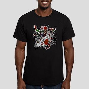 Robertson Tartan Lion Men's Fitted T-Shirt (dark)