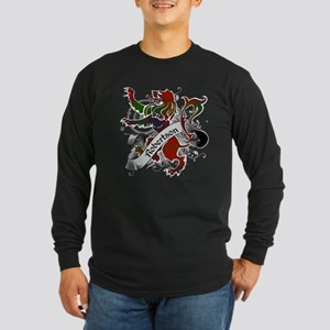 Robertson Tartan Lion Long Sleeve Dark T-Shirt