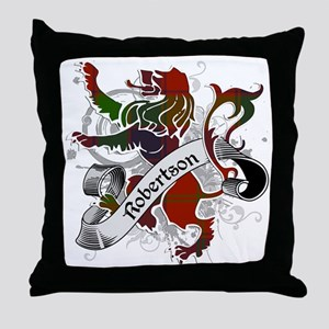 Robertson Tartan Lion Throw Pillow