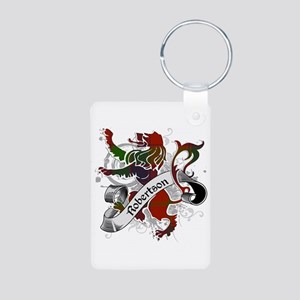 Robertson Tartan Lion Aluminum Photo Keychain