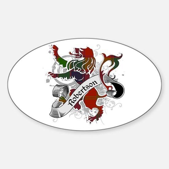 Robertson Tartan Lion Sticker (Oval)