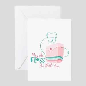 Floss be with You Greeting Cards