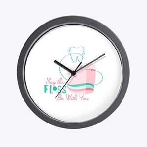 Floss be with You Wall Clock