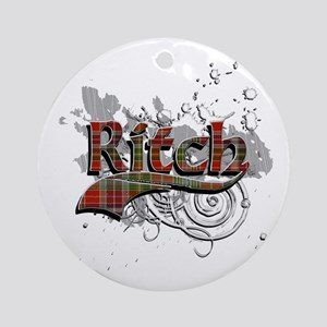 Ritch Tartan Grunge Ornament (Round)