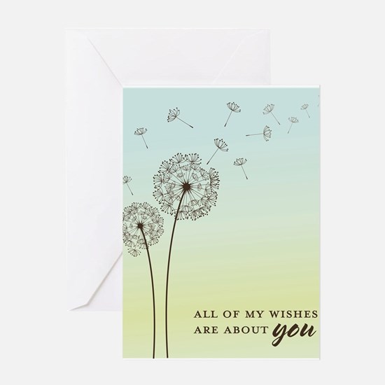 Dandelion Wishes Greeting Cards