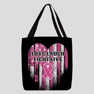 Love Laugh Fight Live Polyester Tote Bag