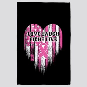Love Laugh Fight Live 4' x 6' Rug