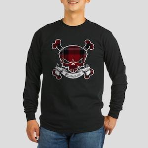 Ramsay Tartan Skull Long Sleeve Dark T-Shirt