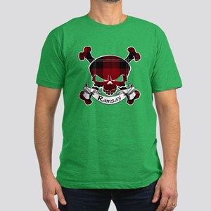 Ramsay Tartan Skull Men's Fitted T-Shirt (dark)