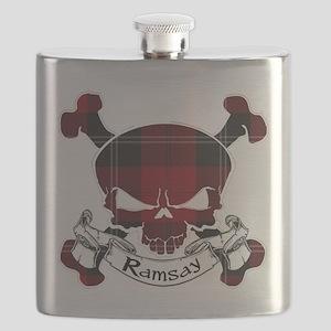 Ramsay Tartan Skull Flask
