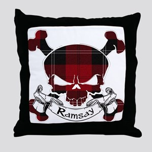 Ramsay Tartan Skull Throw Pillow
