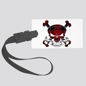 Ramsay Tartan Skull Large Luggage Tag