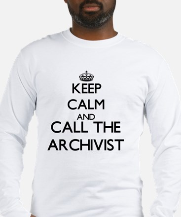 Keep calm and call the Archivist Long Sleeve T-Shi