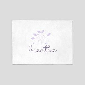 Breathe (Lavendar) 5'x7'Area Rug