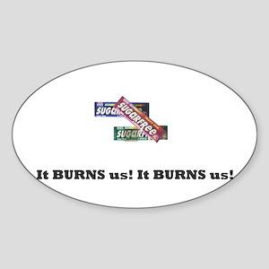 Sugarfree Gum! NO! Oval Sticker