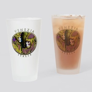 Colorful Couple Drinking Glass