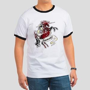 Ramsay Tartan Unicorn Ringer T
