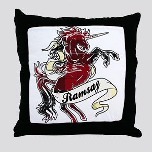 Ramsay Tartan Unicorn Throw Pillow