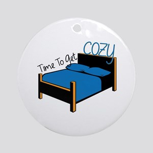 Time To Get Cozy Ornament (Round)