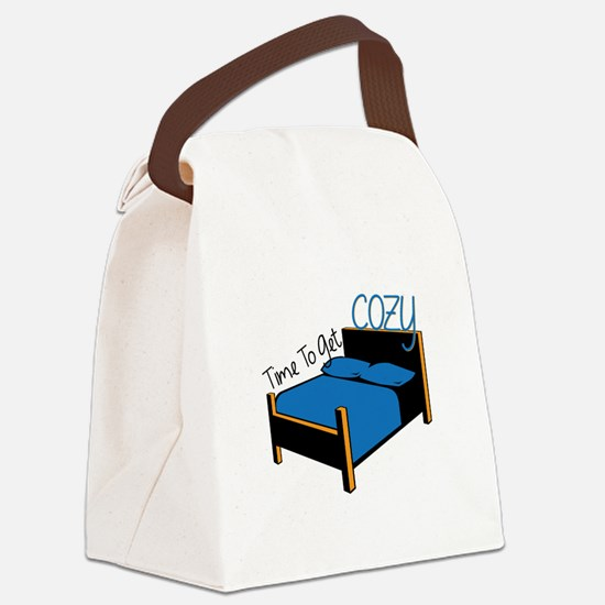 Time To Get Cozy Canvas Lunch Bag