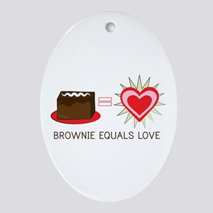 Brownie Equals Love Ornament (Oval)