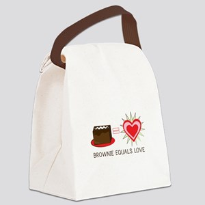 Brownie Equals Love Canvas Lunch Bag