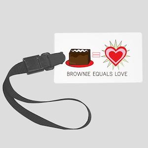 Brownie Equals Love Luggage Tag