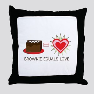 Brownie Equals Love Throw Pillow