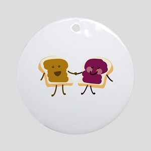 Peanutbutter and Jelly Ornament (Round)