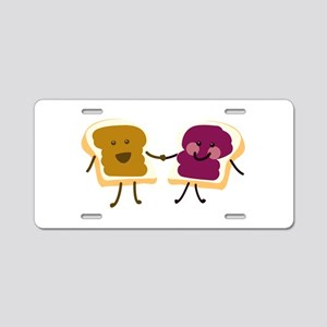 Peanutbutter and Jelly Aluminum License Plate