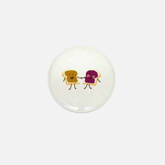 Peanutbutter and Jelly Mini Button