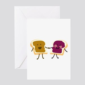 Peanutbutter and Jelly Greeting Cards