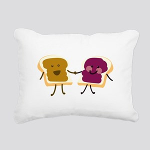 Peanutbutter and Jelly Rectangular Canvas Pillow