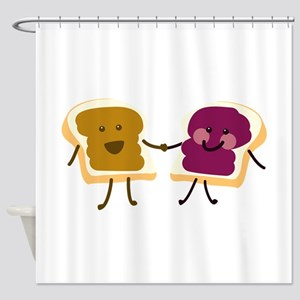 Peanutbutter and Jelly Shower Curtain