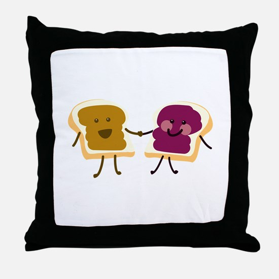 Peanutbutter and Jelly Throw Pillow