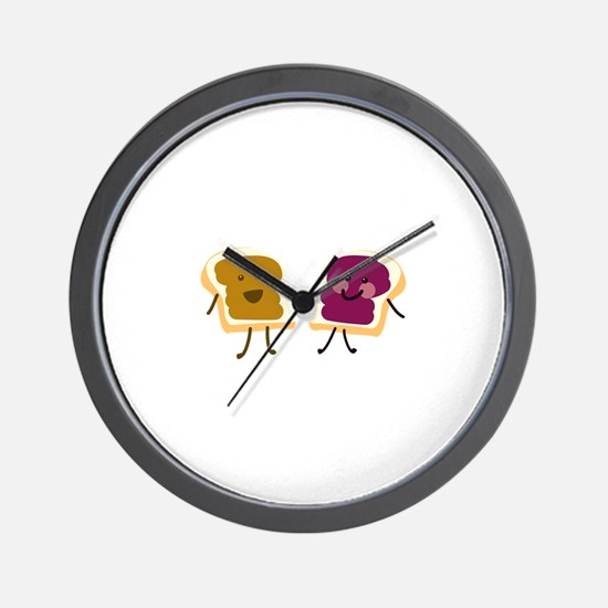Peanutbutter and Jelly Wall Clock