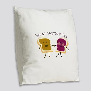 Together Sandwich Burlap Throw Pillow