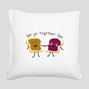 Together Sandwich Square Canvas Pillow