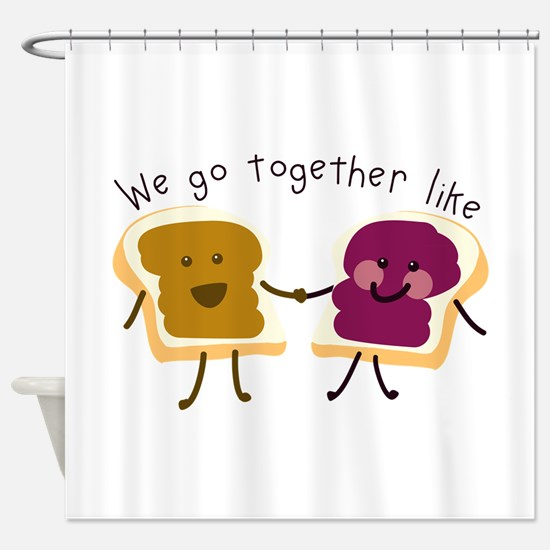Together Sandwich Shower Curtain