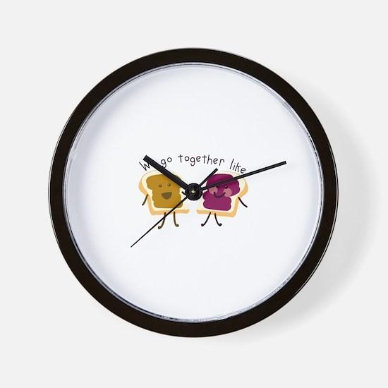 Together Sandwich Wall Clock