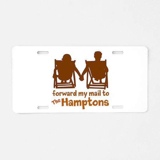 The Hamptons Aluminum License Plate