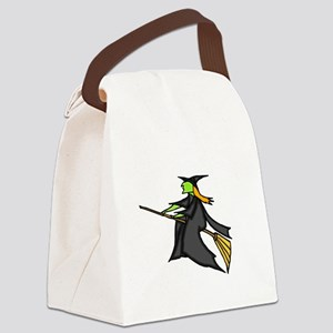 Witch Flying Canvas Lunch Bag