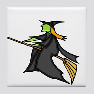 Witch Flying Tile Coaster